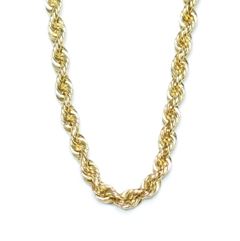 14K Yellow Gold 22.92 Grams Twisted Rope Chain Necklace