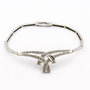 18K White Gold 9.35 Grams Diamond Bracelet