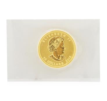 24K Yellow Gold 1/4 OZ Queen Elizabeth II Celebration 10 Dollar 2015 Coin