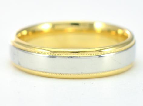 Platinum and 18K Yellow Gold 6.90 Grams High Polished Wedding Band