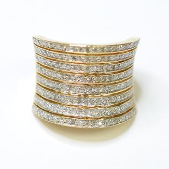 14K Yellow Gold 11.77 Grams 1.75 Carats t.w. Diamond Lady's Ring