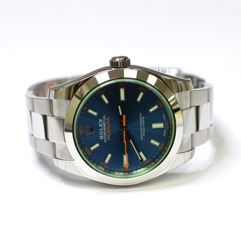Rolex Milgauss Oyster Perpetual 40mm Stainless Steel Mens Watch 116400GV