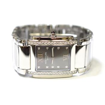 Patek Philippe Twenty-4 25x30mm Fabric Diamonds Ladies Watch 4910