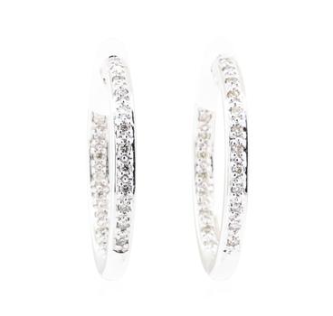 14K White Gold 6.10 Grams Earrings