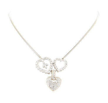 14K Two Tone Gold 22.00 Grams Diamond Necklace