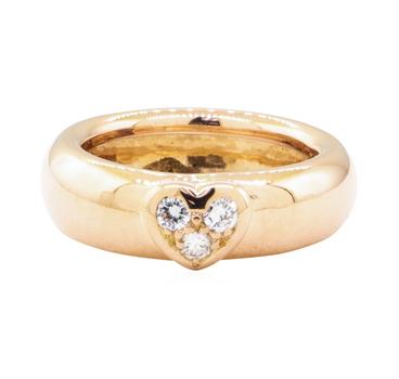 18K Rose Gold 5.40 Grams Diamond Ring