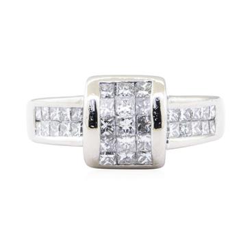 Platinum 13.30 Grams Diamond Fashion Ring