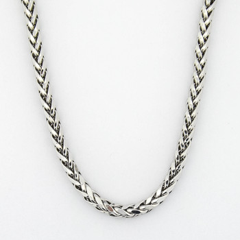14K White Gold 14.25 Grams Fox Tail Chain Necklace