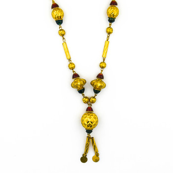 21K Yellow Gold 35.30 Grams Beaded Style Necklace