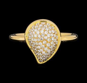 18K Rose Gold 4.95 Grams Pear Shape Diamond Lady's Ring