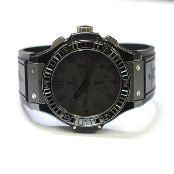Hublot Big Bang 44mm Ceramic and Titanium Fabric Black Diamonds Mens Watch 301