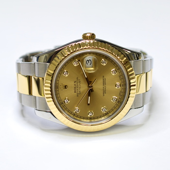 Rolex DateJust II 41mm Stainless Steel and 18K Gold Mens Watch 116333