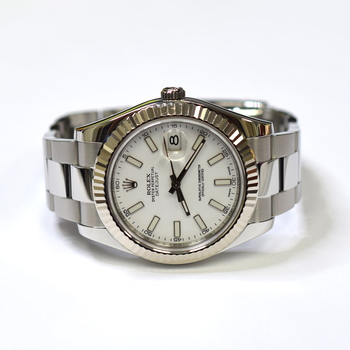 Rolex Datejust II 41mm Stainless Steel and Gold Bezel Mens Watch 116334