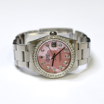 Rolex Datejust 31mm Stainless Steel Custom Diamonds MOP Ladies Watch 78240