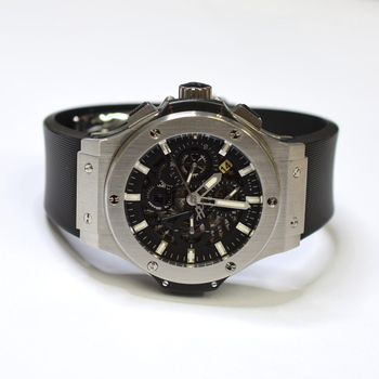 Hublot Big Bang 44mm Stainless Steel Mens Watch on Rubber Strap