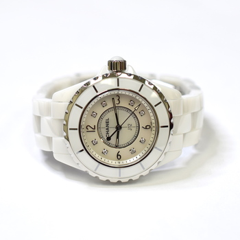 Chanel J12 33mm Ceramic Mother of Pearl Ladies Watch