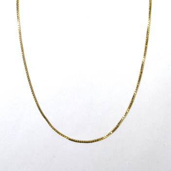 14K Yellow Gold 2.35 Grams Box Style Chain Necklace