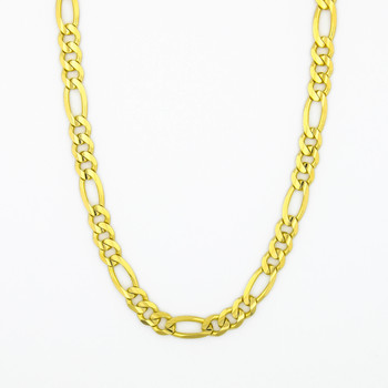 14K Yellow Gold 27.35 Grams High Polished Link Chain Necklace