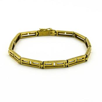 14K Yellow Gold 15.15 Grams High Polished Bracelet