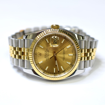 Rolex DateJust 36mm Stainless Steel and 18K Gold Watch 116233