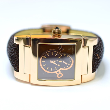De Grisogono Instrumentino 27.5x50 mm 18K Rose Gold Mens Watch on Galuchat Strap