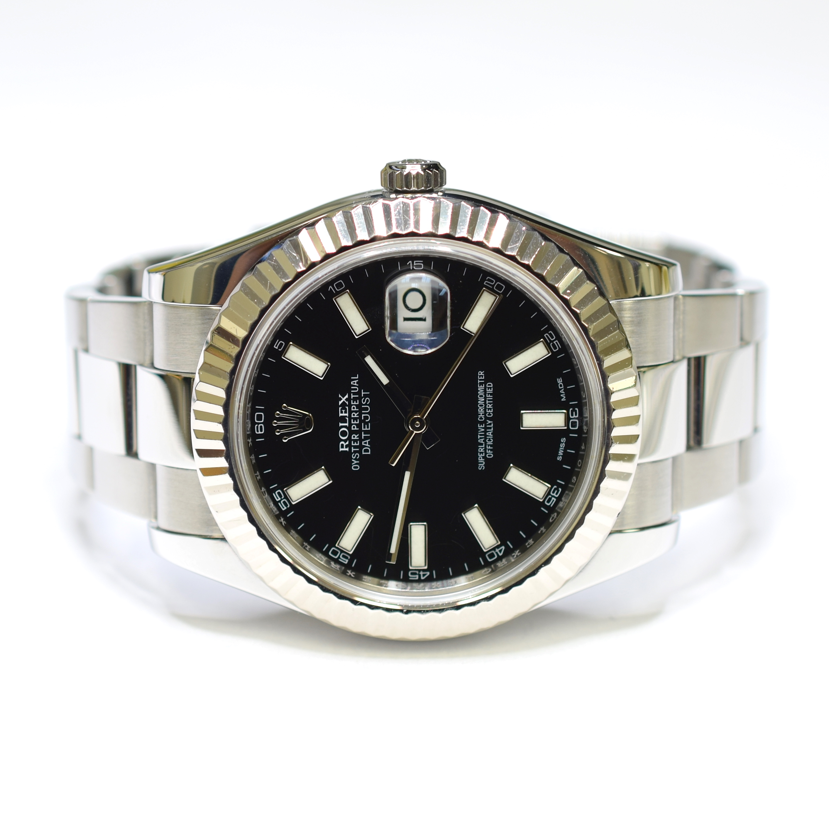 70befd89496 Image 1 of 3. Rolex DateJust II Oyster Perpetual 41mm Stainless Steel Mens  Watch 116334