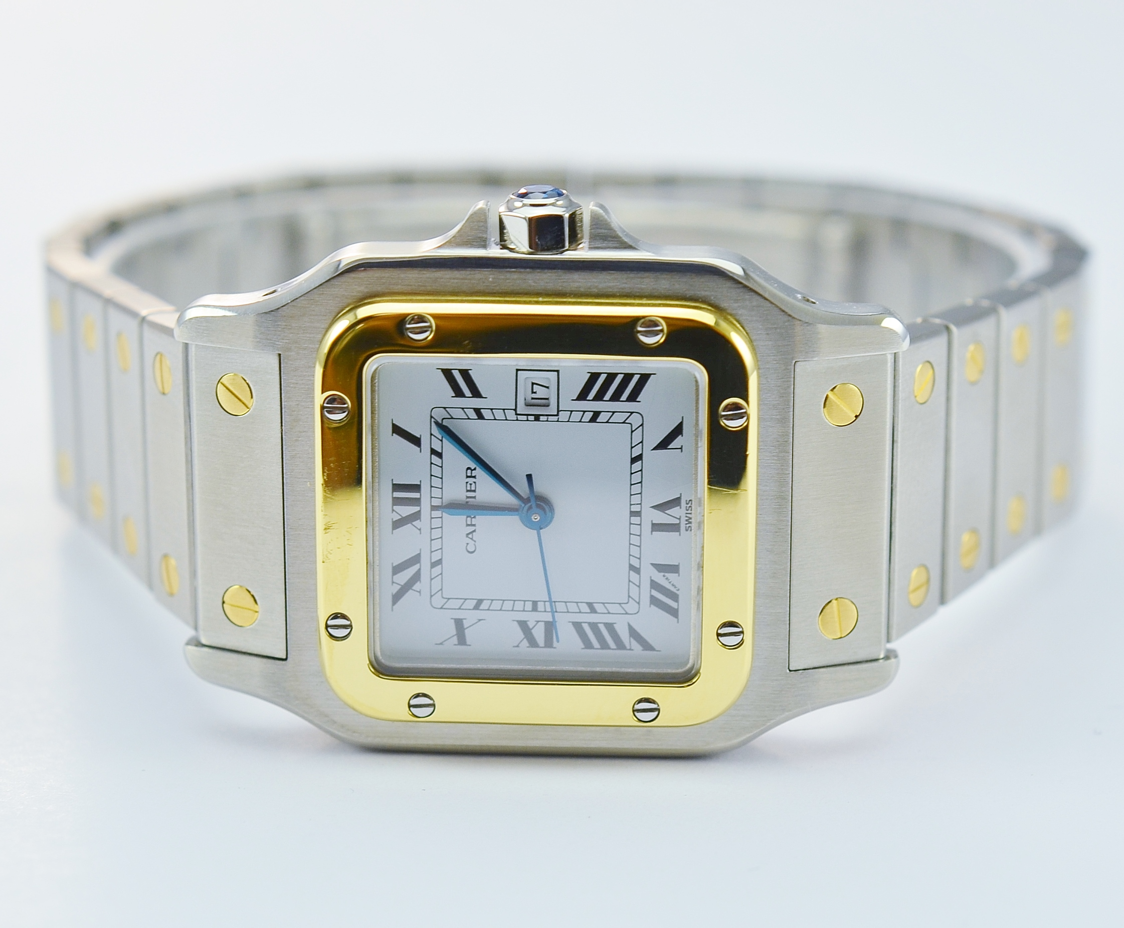 92b448510ca6 Image 1 of 8. Cartier Santos 1567 2T Stainless Steel and 18K Gold ...