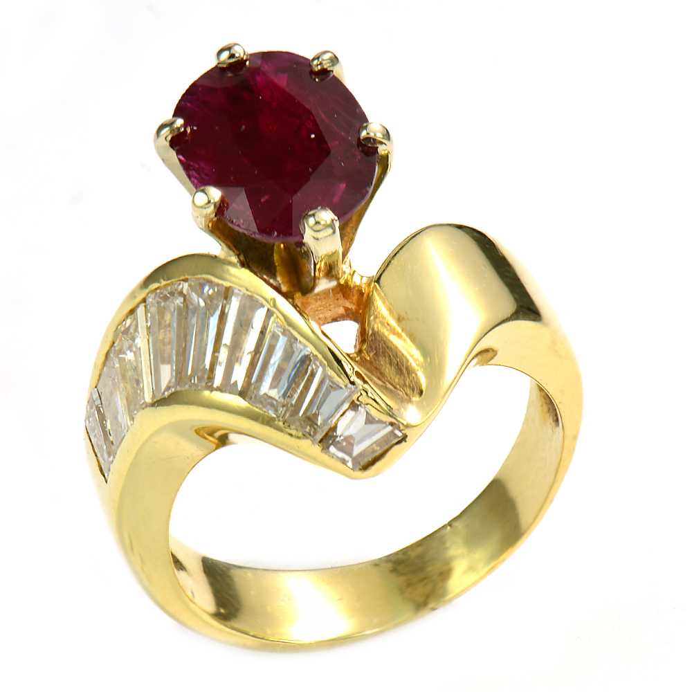 Yellow Gold Baguette Ring