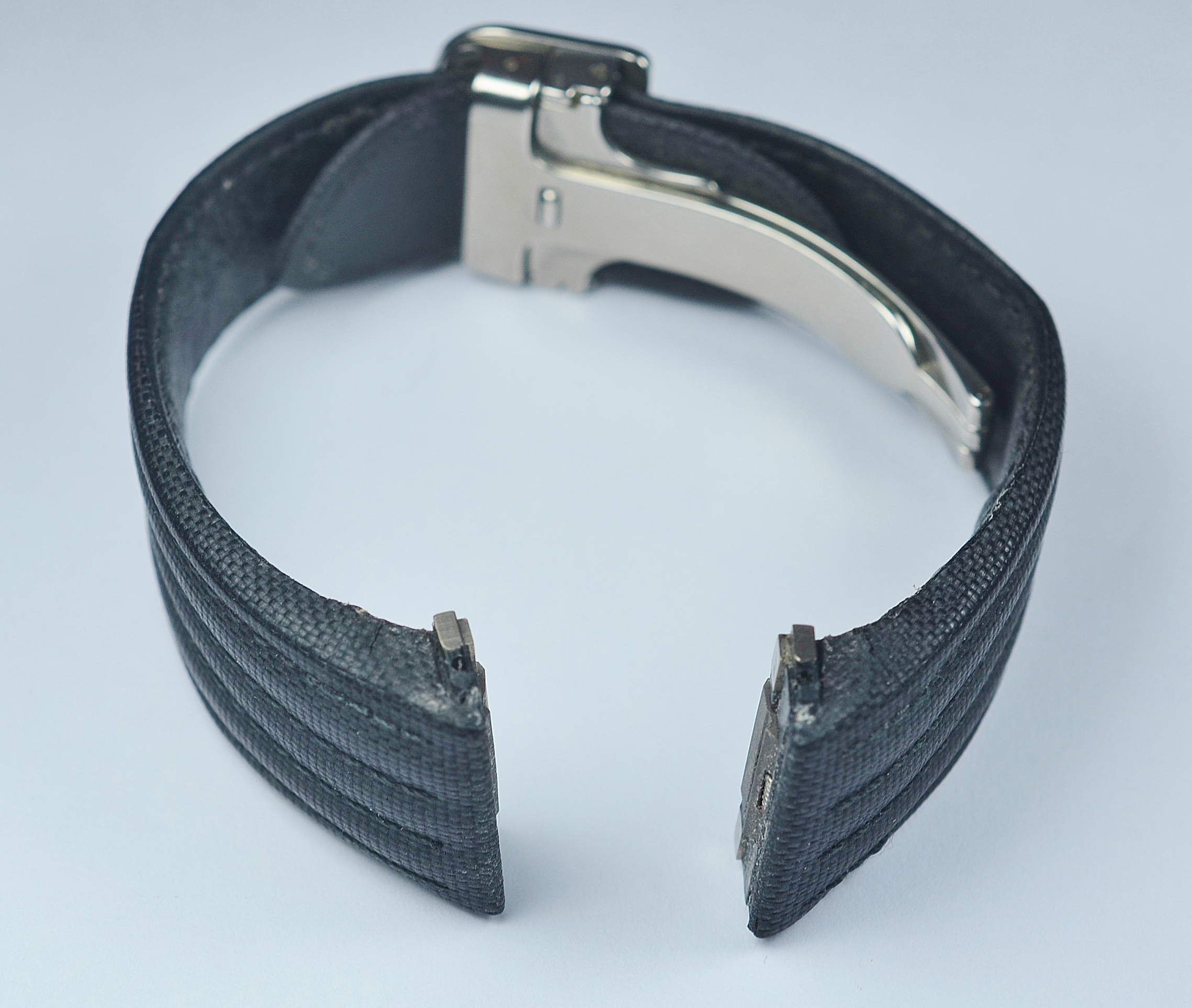 Cartier Roadster 19mm Watch Strap Band Black Canvas