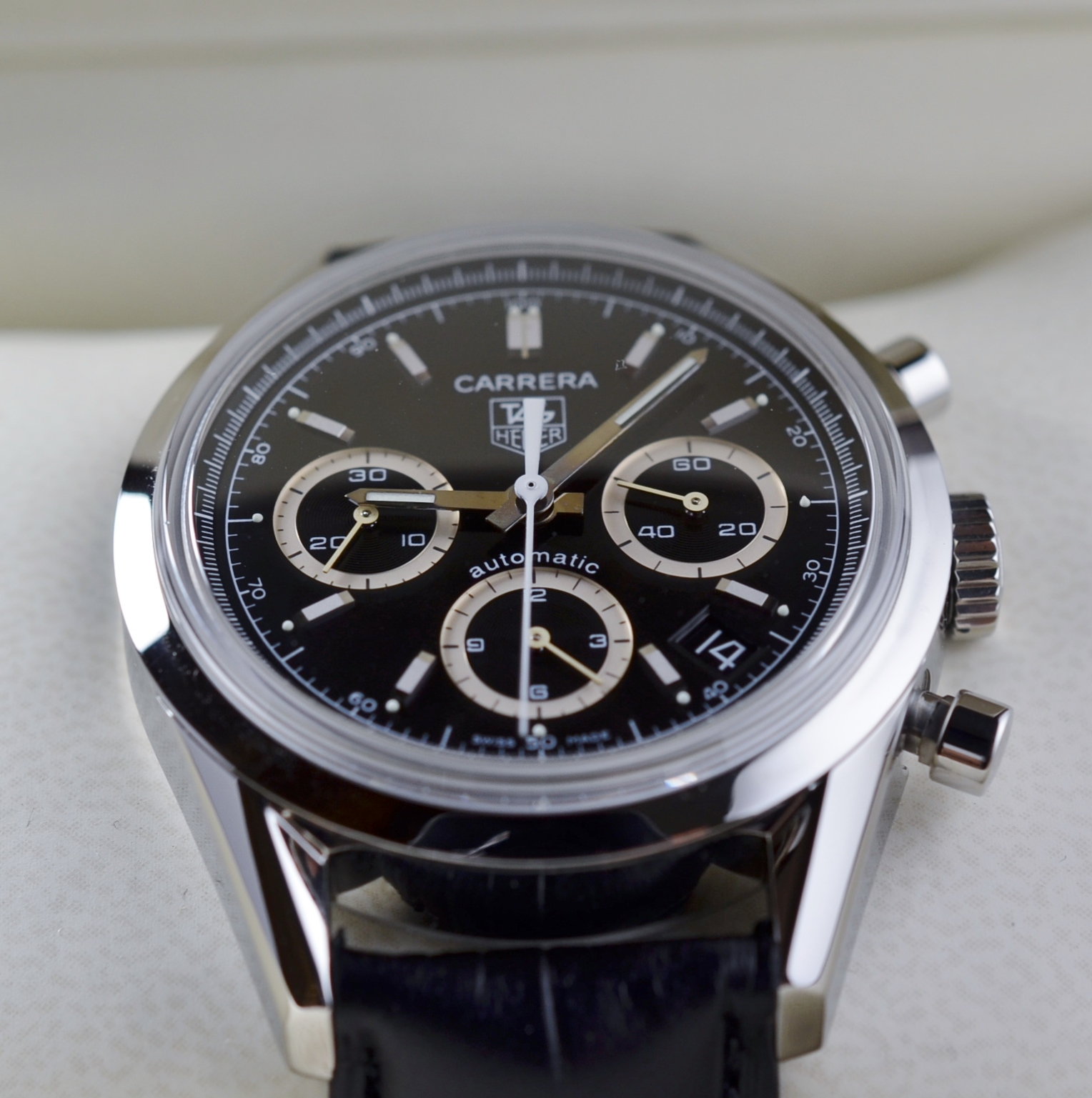 Tag Heuer Carrera Chronograph Watch 38mm Ref Cv2113 0
