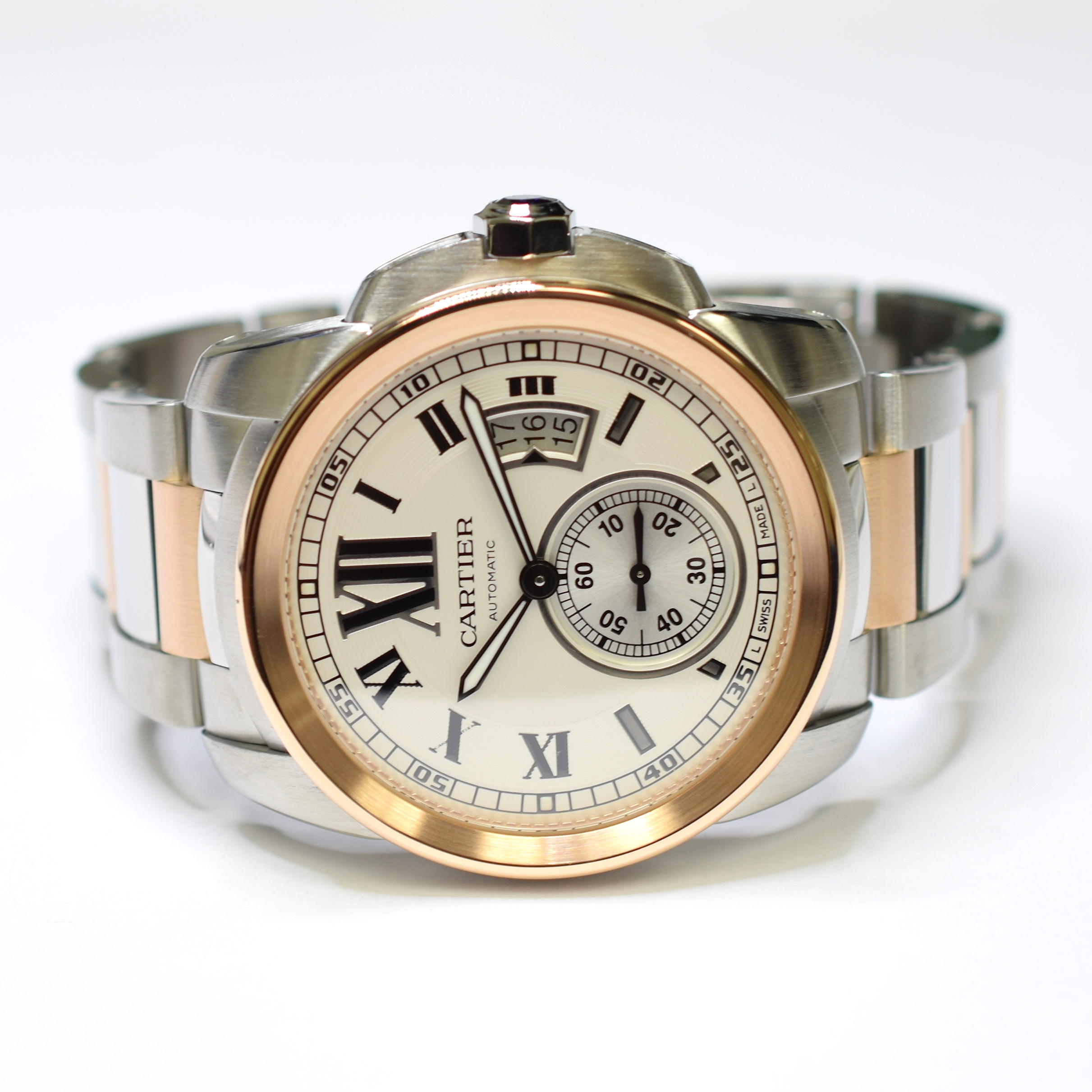 810f9f9547b Image 1 of 3. Cartier Calibre de Cartier 42m Stainless Steel and 18K Gold Watch  3389