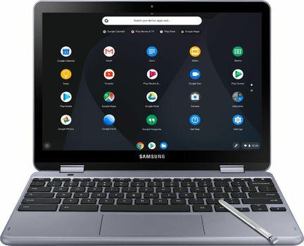 "Samsung - Plus 2-in-1 12.2"" Touch Screen Chromebook Intel Celeron 4GB Memory 32GB Laptop"