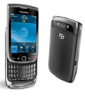 AT&T Blackberry Torch 9800 4GB Touchscreen Smartphone - Black