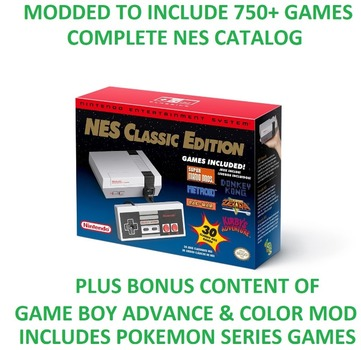 Brand New Nintendo Entertainment System (NES) Classic Modded w/ 750+ Games and Bonus Content
