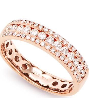 4.45 grams & 0.60 Cts Certified 14K Diamond Designer Gold Ring