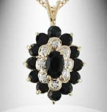 4.17 CT Sapphire & Diamond Designer Necklace List Price $785!