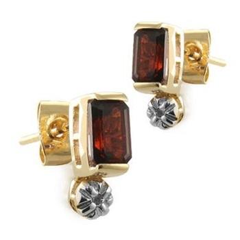 2.82 CT Garnet & Diamond Designer Earrings List Price $465!
