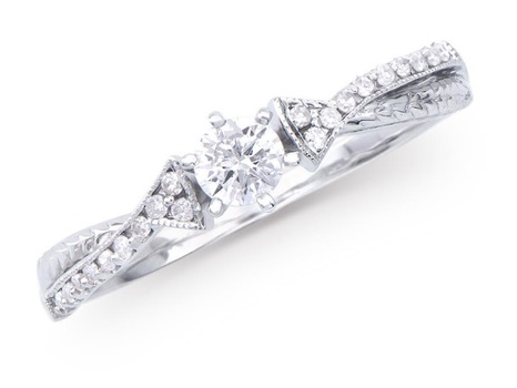 0.326 Cts Certified Diamond 14K Designer Gold Ring MSRP $5,421!