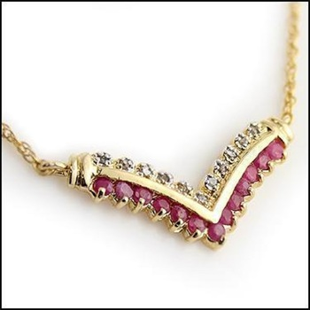 1.88 CT Ruby & Diamond Designer Necklace