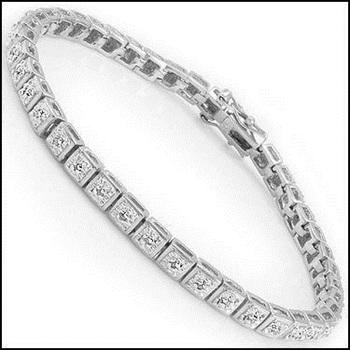 0.87 CT Diamond Designer Bracelet $1,190!