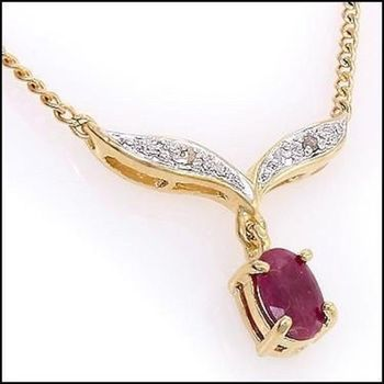 2.92 CT Ruby & Diamond Designer Necklace List Price $790!