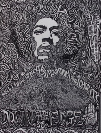 JIMI HENDRIX Hand Signed Posterography Letterpress ART List Price $490