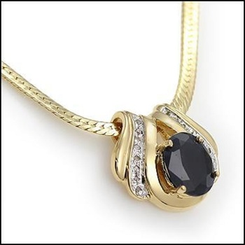 7.69 CT Sapphire & Diamond Designer Necklace List Price $965!