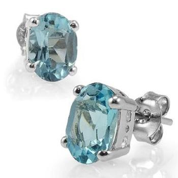 4.18 CT Swiss Blue Topaz Designer Earrings List Price $645!