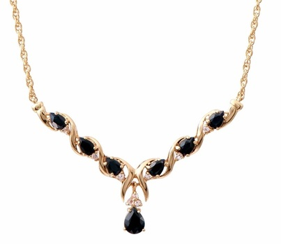 8.71 CT Black & White Sapphire Designer Necklace
