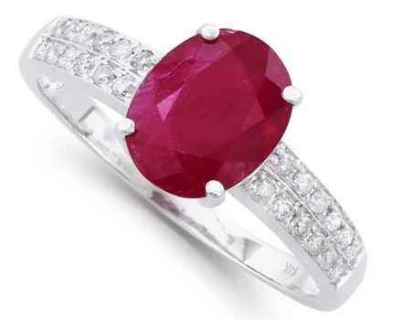 Certified 2.13 Ct Ruby & Diamond 14K Designer Gold Ring $12,550!!!