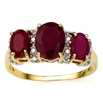 2.32 Cts Certified Ruby & Diamond Designer Gold Ring MSRP $4,205!