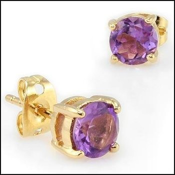 4.22 CT Amethyst Designer Earrings MSRP $470