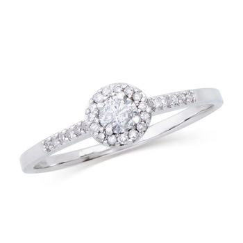 0.265 Cts Certified Diamond 14K Designer Engagement Ring MSRP $5,521!