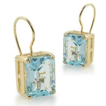 3.92 CT Blue Topaz Designer Earrings MSRP $585